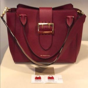 Burberry Parade Red Buckle Med Tote